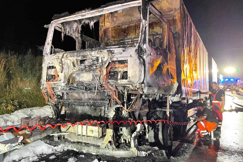 Der Brand eines Lastwagens hat für einen Großeinsatz gesorgt.