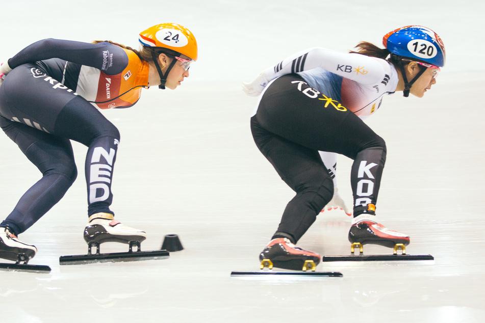 Das Finale des Shorttrack-Weltcups in Dresden, 2019 in der EnergieVerbund Arena. Im kommenden Jahr wird der Weltcup aufgrund der Corona-Pandemie nicht in Dresden stattfinden.