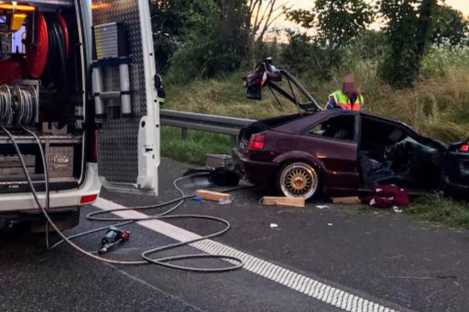Der Unfall ereignete sich am Sonntagabend gegen 20 Uhr auf der A66 bei Langenselbold in Hessen.