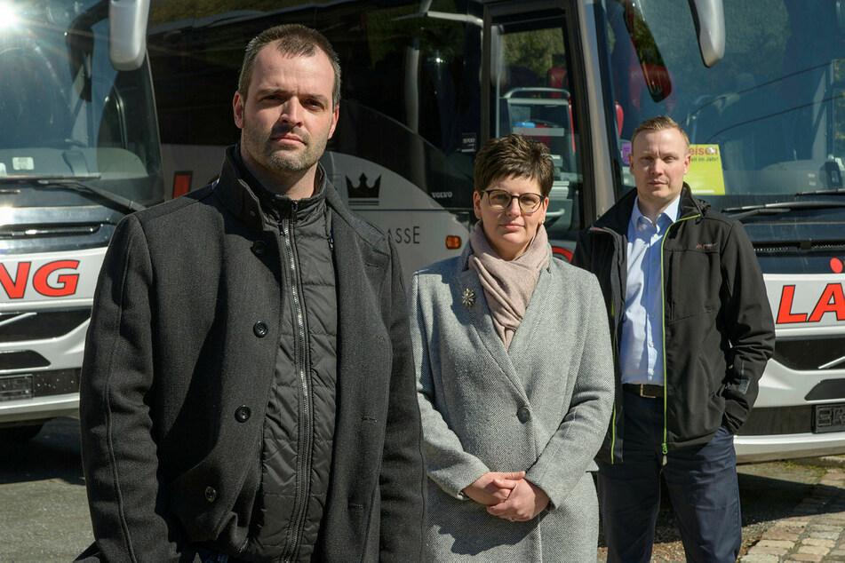 Die Mittelständler René Lang (43), Ulrike Schröder (42) und Marko Ullmann (41, v.l.) gründeten eine Initiative, um sich Gehör zu verschaffen.