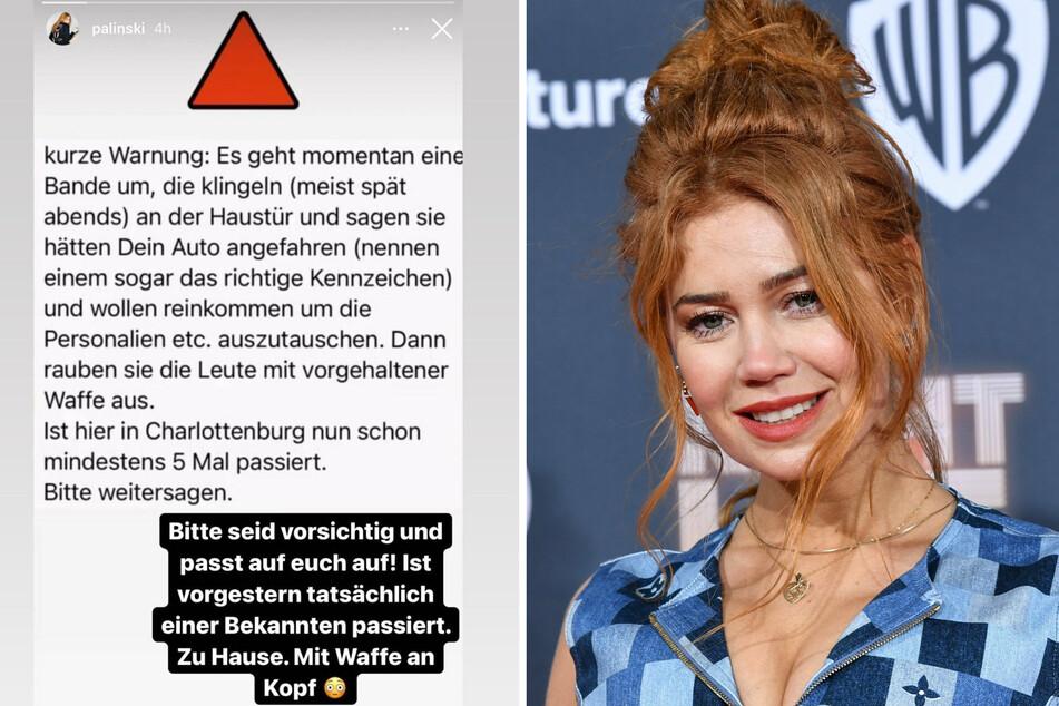 Die Schauspielerin Palina Rojinski (36) berichtet auf Instagram vom dem Raubüberfall