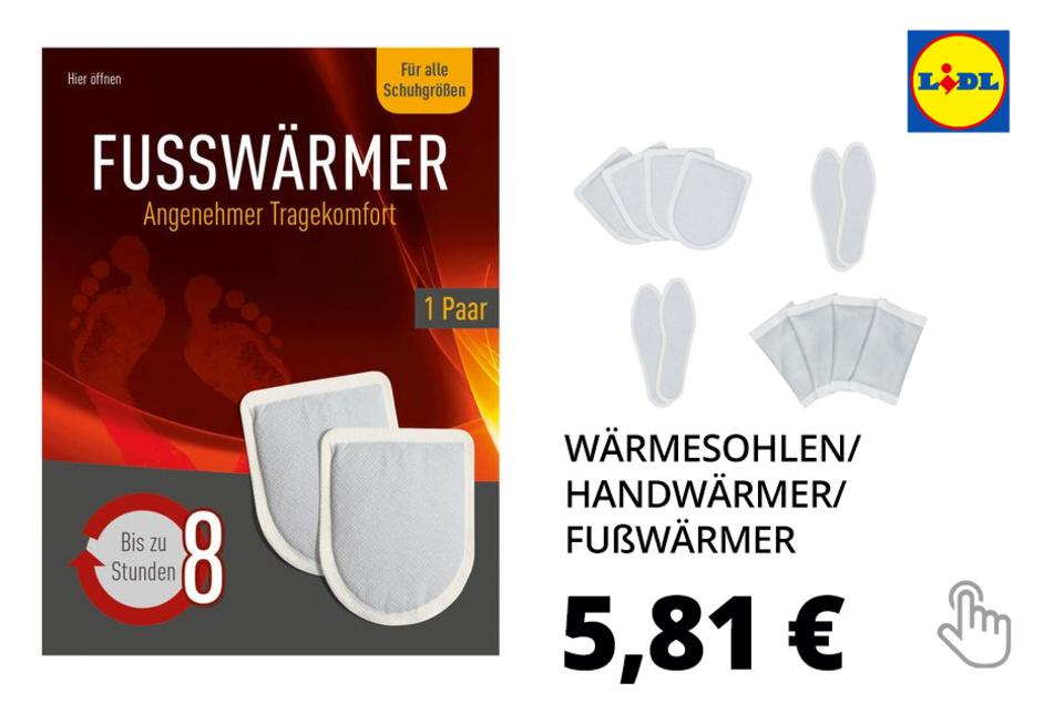 Wärmesohlen/ Handwärmer/ Fußwärmer