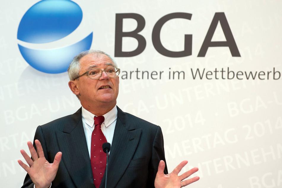Der Präsident des Bundesverbandes Großhandel, Außenhandel, Dienstleistungen (BGA), Anton Börner, spricht auf dem Unternehmertag des BGA.