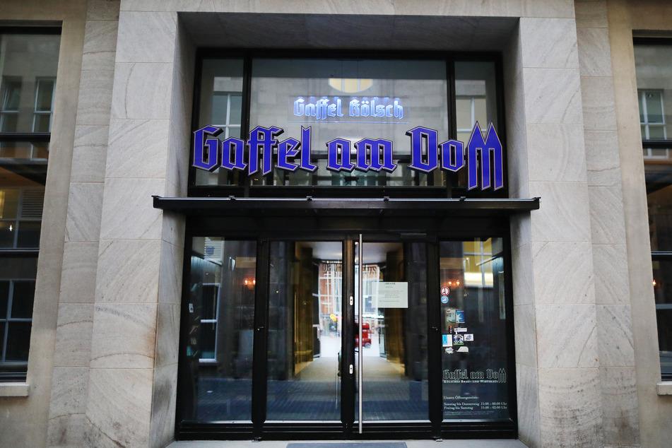 Das geschlossene Brauhaus Gaffel am Dom in Köln.