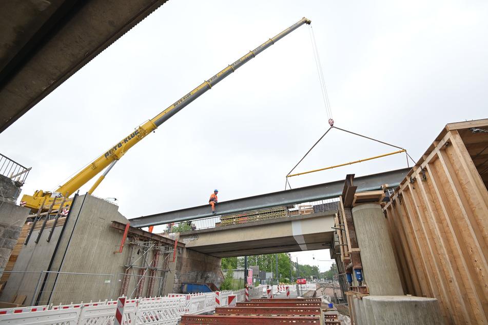 Baustellen Chemnitz: Neue Vollsperrungen: Arbeiten am Chemnitzer Bahnbogen gehen voran