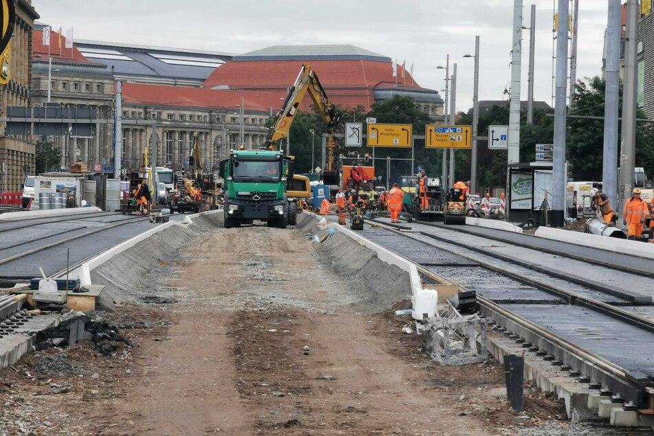 Seit nunmehr fast sieben Monaten wird am Goerdelerring gebaut und modernisiert.