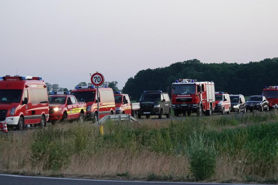 Für die Löschung des Waldbrandes rückten mehrere Feuerwehren an.