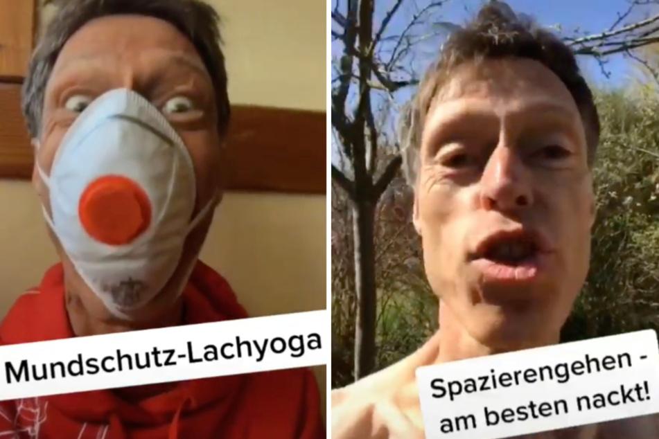 """Erlaubt an Ostern sind """"Mundschutz-Lachyoga"""" und nackig Spazieren gehen."""
