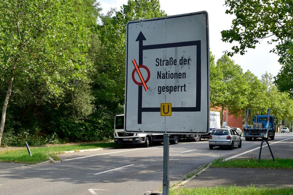 Baustellen Chemnitz: Baustellen in Chemnitz: Neue Einschränkungen auf B95, wochenlange Verlängerung in StraNa