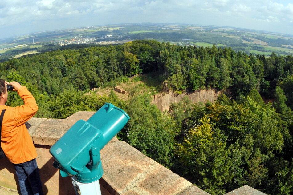 Blick vom Rochlitzer Berg.