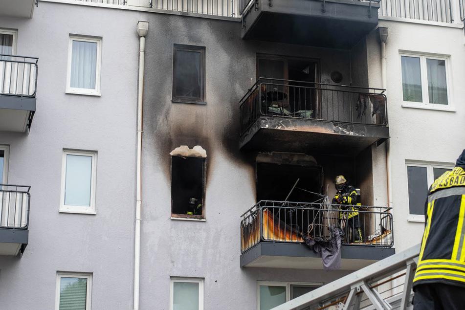 Das Feuer war im zweiten Obergeschoss des Wohnhauses in Wiesbaden-Erbenheim ausgebrochen.