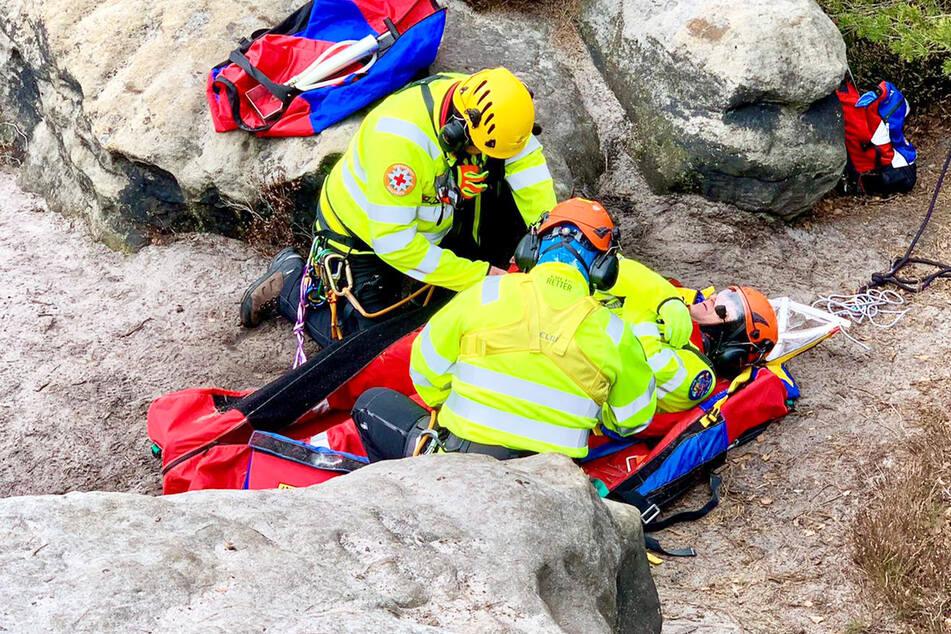 Ein Verletzter lag auf dem Tafelberg. Doch Entwarnung: Es handelt sich um eine Übung!