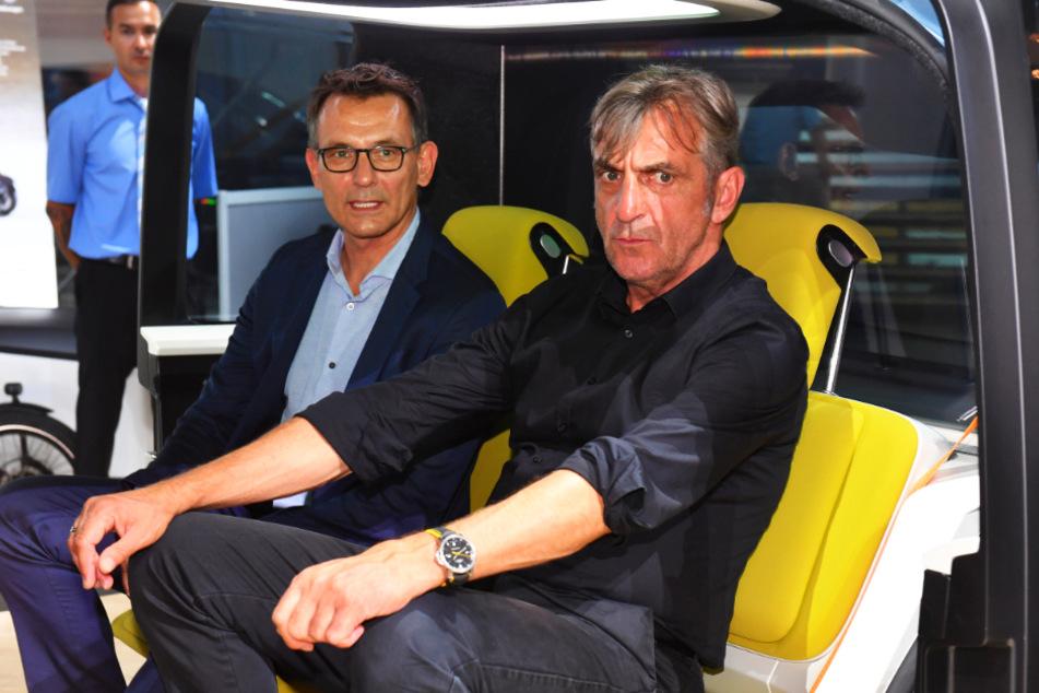 Beide nicht mehr bei Dynamo: Ralf Minge (59, r.) und Michael Born (52).