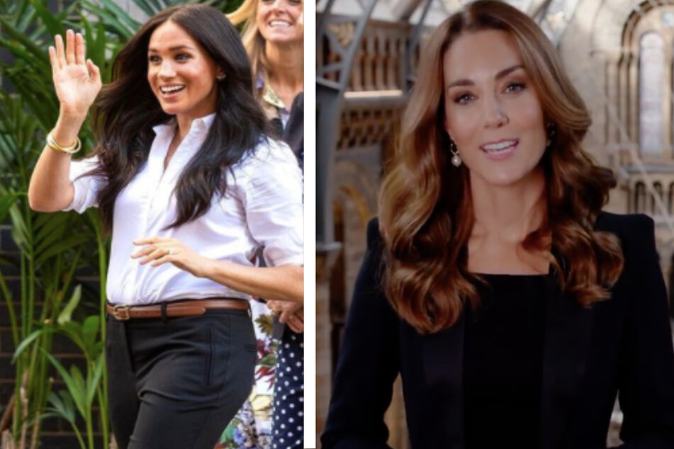 The Duchess of Sussex (l.) and the Duchess of Cambridge have been pitted against each other as opposites in the media.