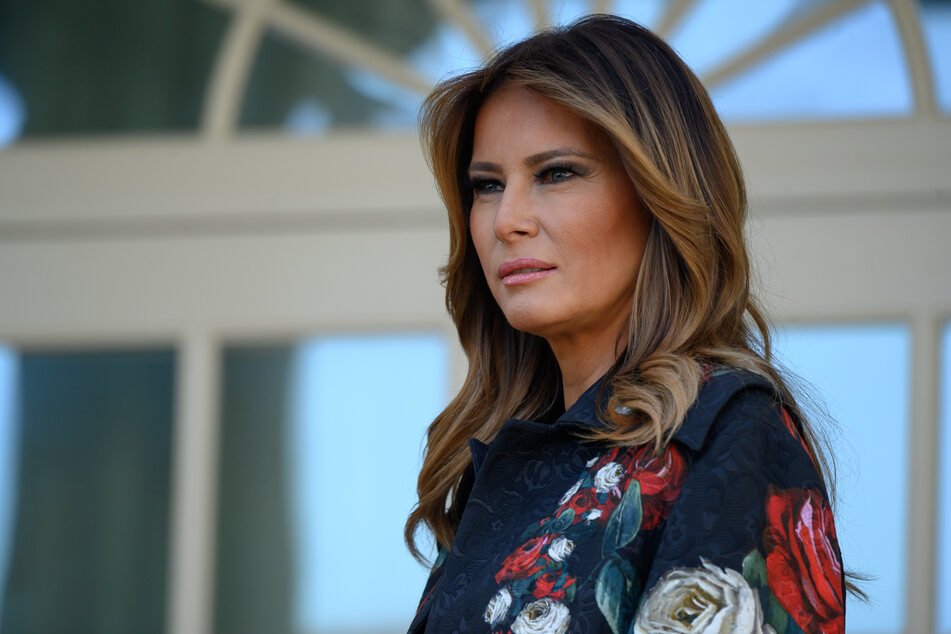 Former First Lady Melania Trump oversaw renovations of the White House Rose Garden in August 2020.
