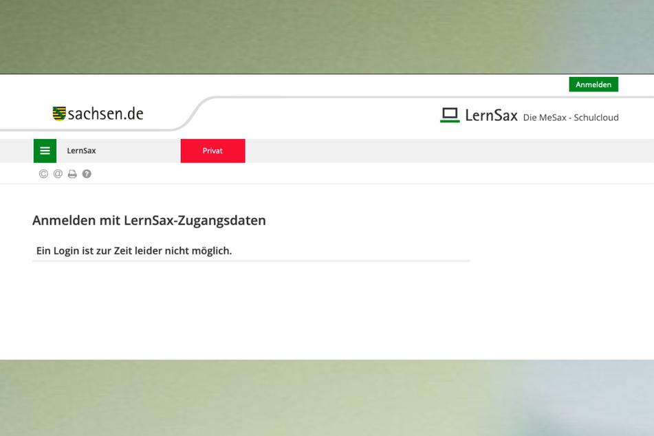 Dienstag halfen bei LernSax auch die Zugangsdaten nicht. Das Portal war offline.