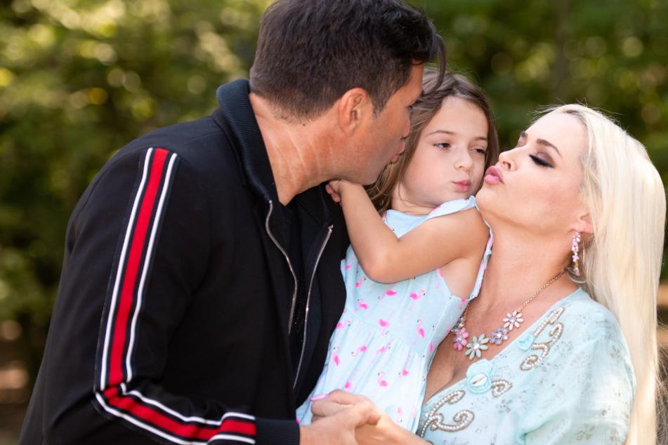 Lucas Cordalis und Daniela Katzenberger mit Tochter Sophia.