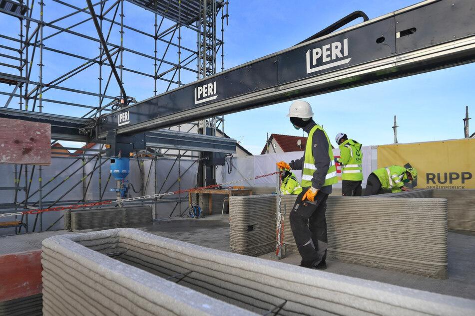 Durch den schwäbischen Bauzulieferer Peri konnte in den USA ein eingeschossiges Einfamilienhaus aus dem 3-D-Drucker entstehen.