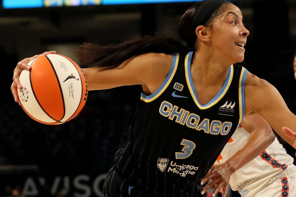 Candace Parker scored 18 points in the Sky's win over the Mercury on game one of the WNBA Finals.
