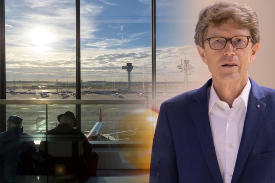 Flughafen-Chef Engelbert Lütke Daldrup kann sich über eine erneute Finanzhilfe freuen. (Bildmontage)