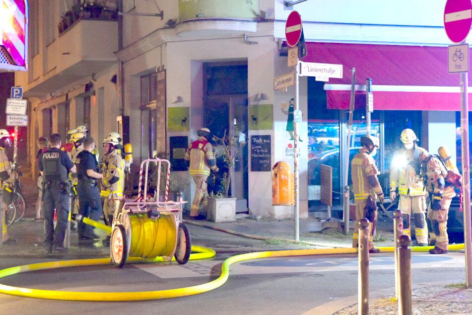 Feuer in Restaurant in Berlin-Mitte ausgebrochen