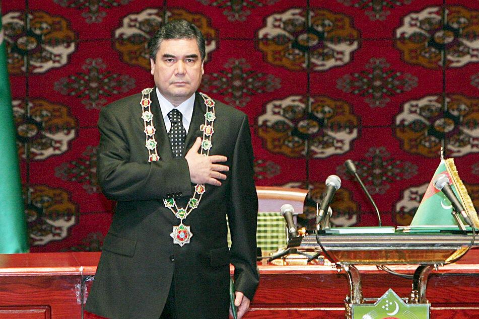 Turkmenistans Präsident Gurbanguly Berdymukhamedov (62) bei seiner Vereidigung im Jahr 2007.
