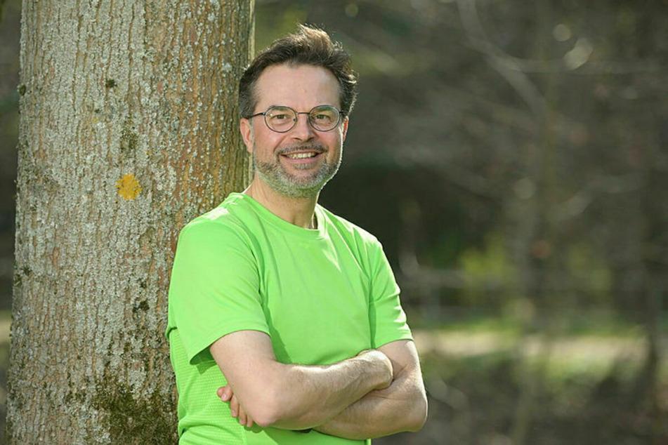 Thomas Lörinczy (50) vom ADFC freut sich über die Pläne der Stadt für eine neue Fahrradstraße.