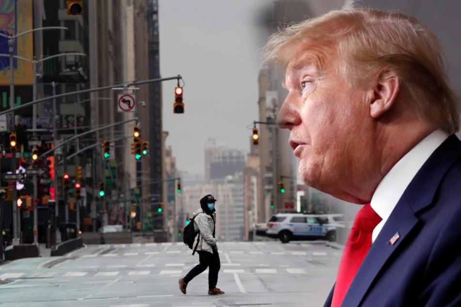 Wie Donald Trump erst die Corona-Krise leugnete und dann zu Kriegsvokabeln griff
