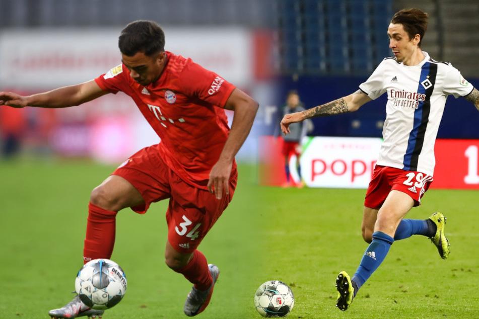 Oliver Batista-Meier (19, l.) möchte nach seiner Leihe in Heerenveen noch so manchen Auftritt im Dress des FC Bayern feiern. Adrian Fein entschied sich nach seinem HSV-Abenteuer für eine weitere Leihe.
