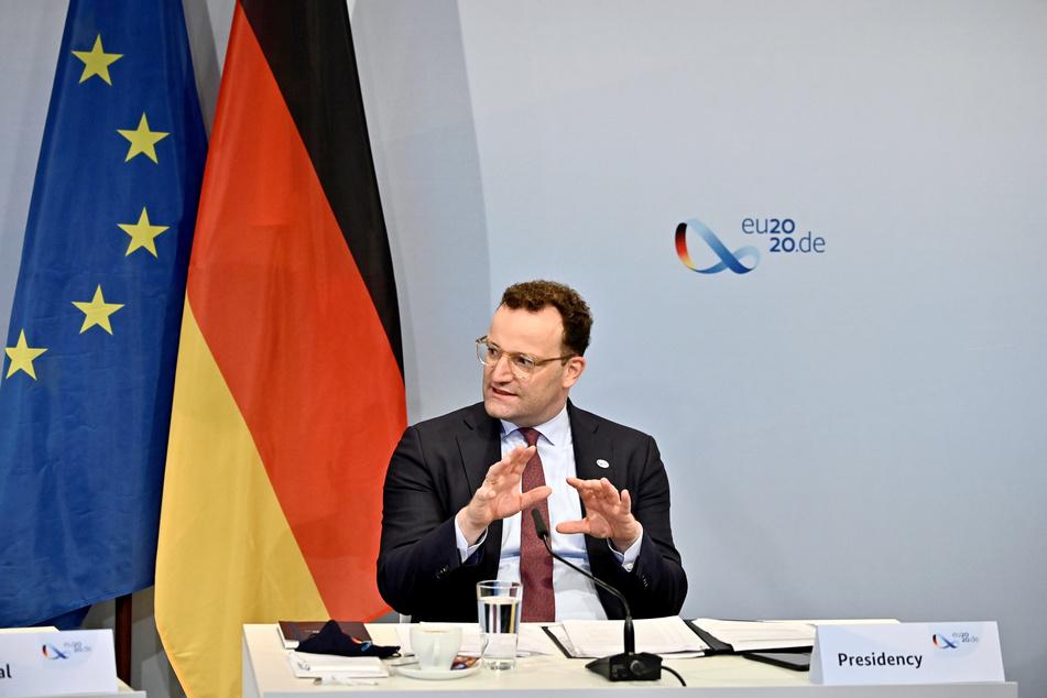 Bundesgesundheitsminister Jens Spahn (CDU) beim Auftakt einer Videokonferenz der EU-Gesundheitsminister. (Archivbild)
