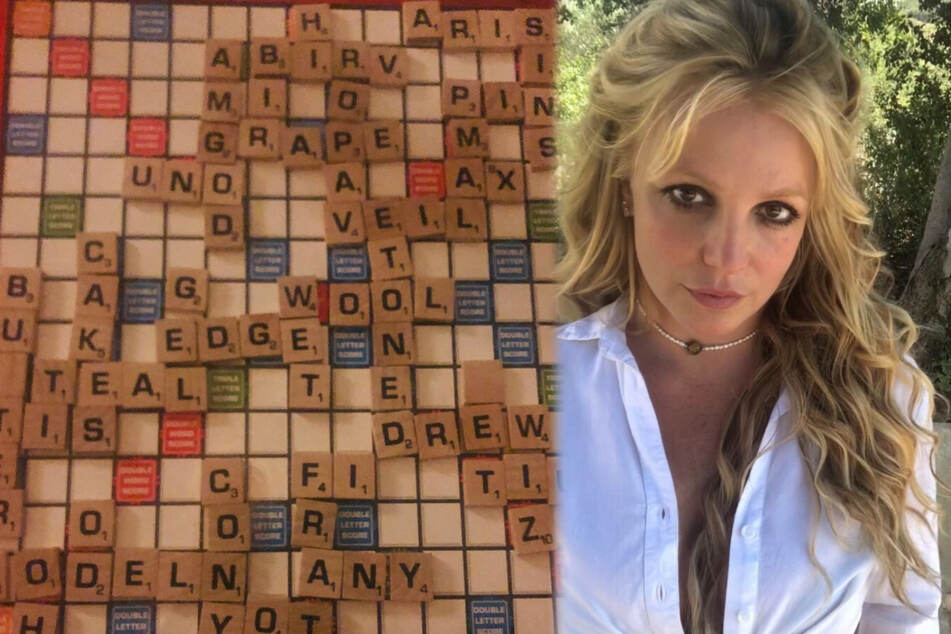 Britney Spears' latest Instagram Scrabble post is a real guessing game