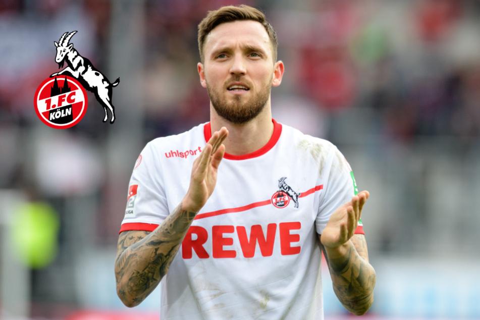 Marco Höger vom 1. FC Köln nutzt die Fußball-Pause zur Weiterbildung