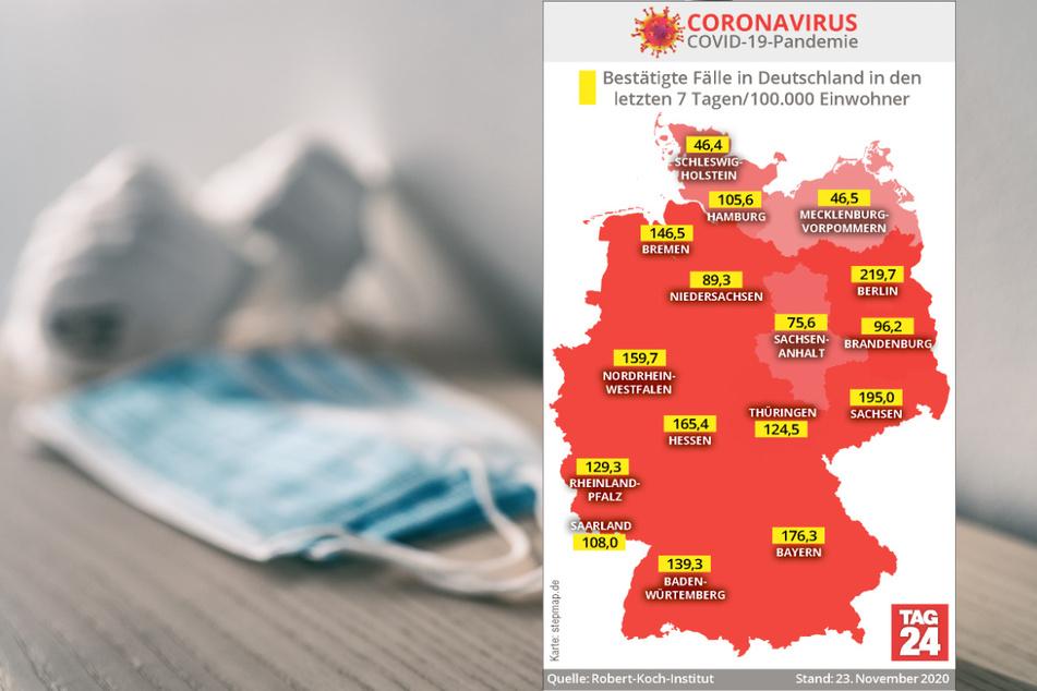 Die aktuellen Corona-Zahlen für Deutschland.
