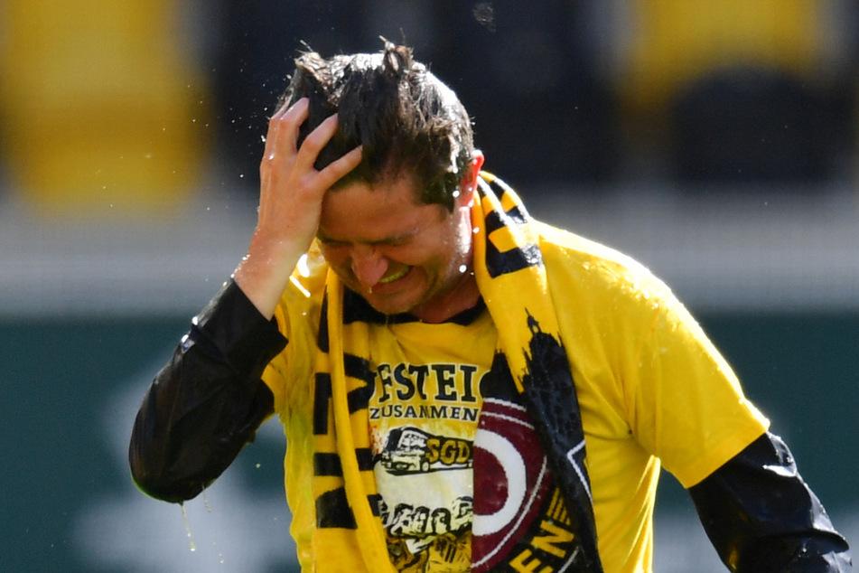 Der Baumeister des Aufstiegs: Ralf Becker war nach der Partie gegen Türkgücü freudetrunken.
