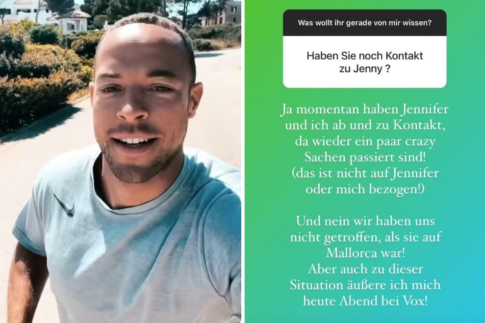 Andrej Mangold (34) verrät bei Instagram, dass er noch Kontakt zu seiner Ex Jennifer Lange (27) hat. (Fotomontage)