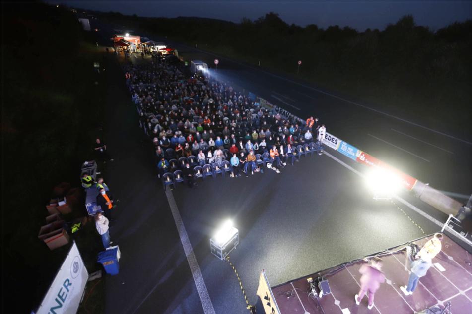 Statt Autos gab's am Samstagabend Open-Air-Kino für 500 Gäste.