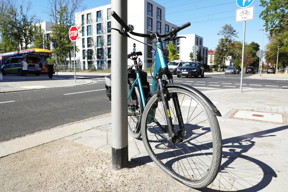 Das Fahrrad wurde bei dem Unfall leicht beschädigt.