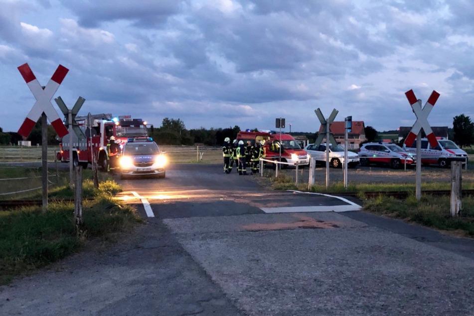Die Bahnstrecke bei Fritzlar wurde nach dem Unfall vorübergehend gesperrt.