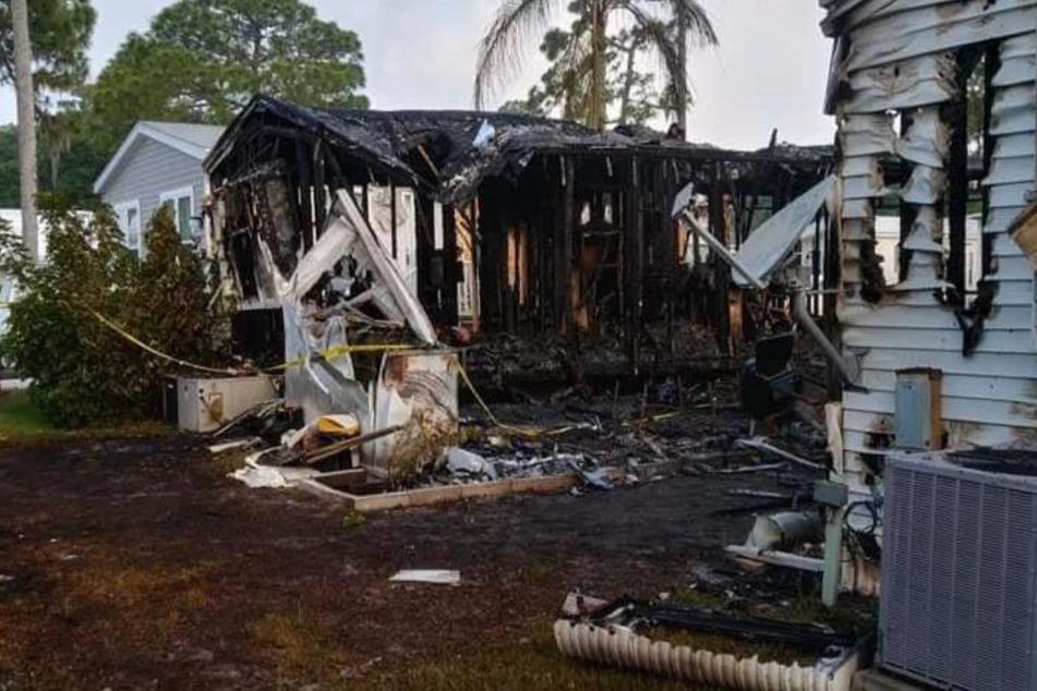 Von den Häusern blieb nach dem Brand nichts übrig.