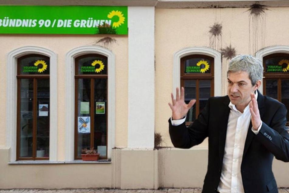 Farbanschlag auf Parteibüro der Grünen