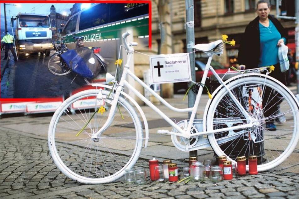 Überrollte Radlerin: Warum hat niemand die Todesecke entschärft?