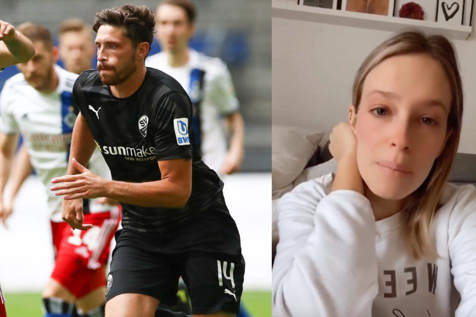 Fußball-Profi Tim Kister hat Corona: Frau berichtet unter Tränen