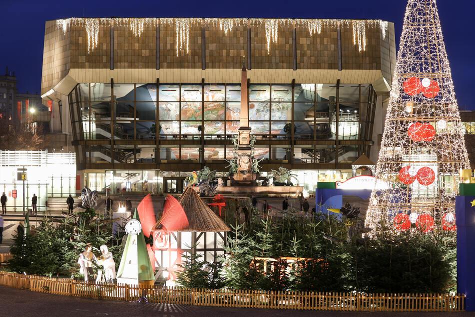 Wird auch der Weihnachtsmarkt in Leipzig stattfinden können? (Archivbild)