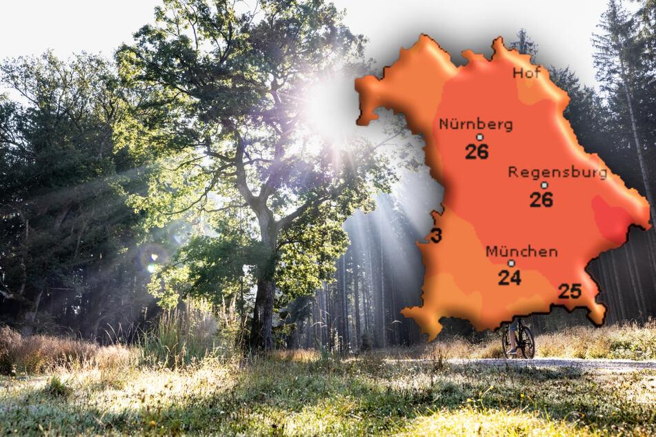 Am Wochenende erwarten Meteorologen in Bayern Temperaturen bis zu 26 Grad.