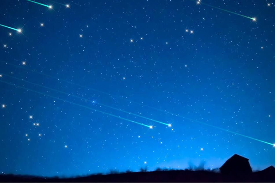 Das ganze Jahr über kann man in Deutschland Sternschnuppen sehen.