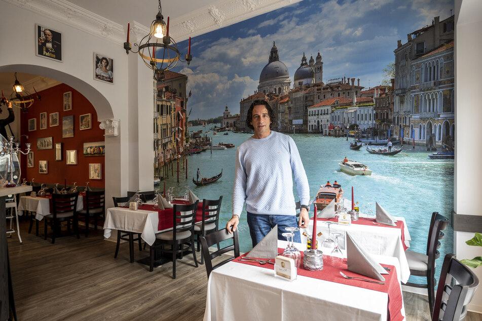 """Luigi Paparella hat in Limbach-Oberfrohna die """"Trattoria Pizzeria da Luigi"""" eröffnet."""