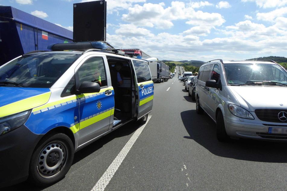 Die A72 wurde zwei Stunden lang gesperrt.