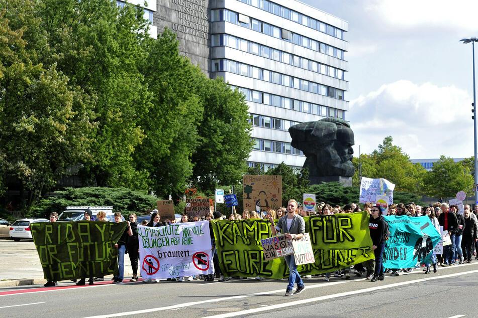 """Die """"Fridays for Future""""-Anhänger gehen am Freitag in Chemnitz wieder auf die Straße."""