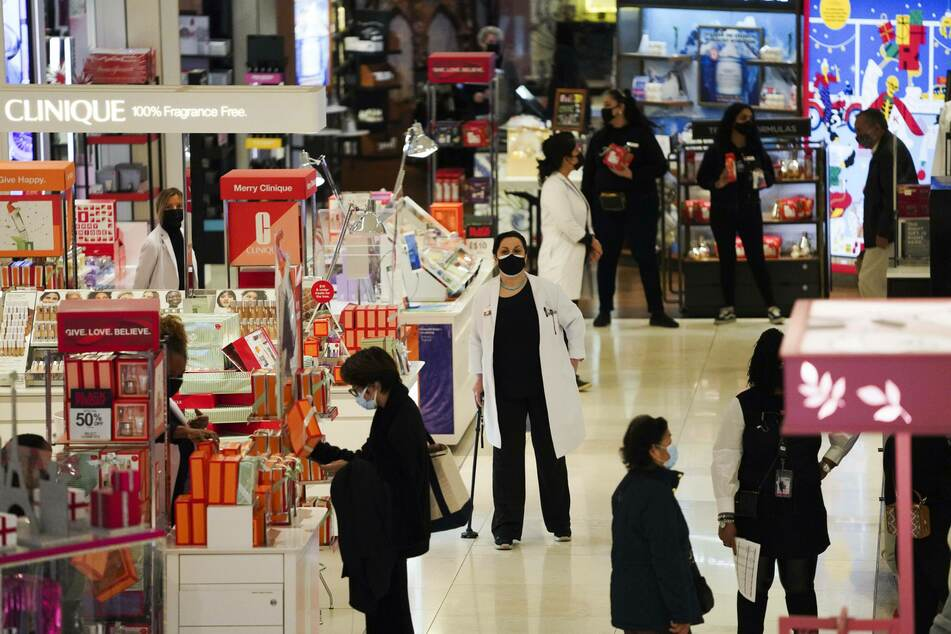 Less people than usual on Black Friday at NYC's Macy's as more shoppers have opted for online sales during the pandemic.