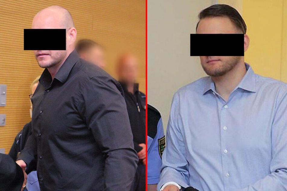 Die beiden Rechtsextremisten René H. (35, l.) und Christian L. (31, r.) erhielten Freiheitsstrafen.
